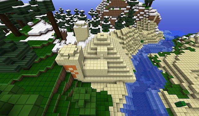 Nearest pyramid to the spawn