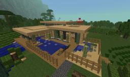Modern Sandstone Home Minecraft Map & Project