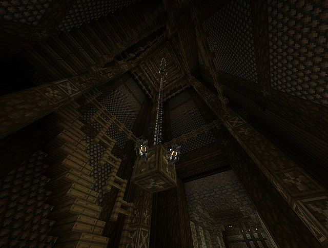 Inside of Staircase tower - looking up