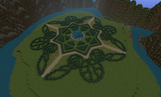 Hedge garden minecraft project - Minecraft garden designs ...