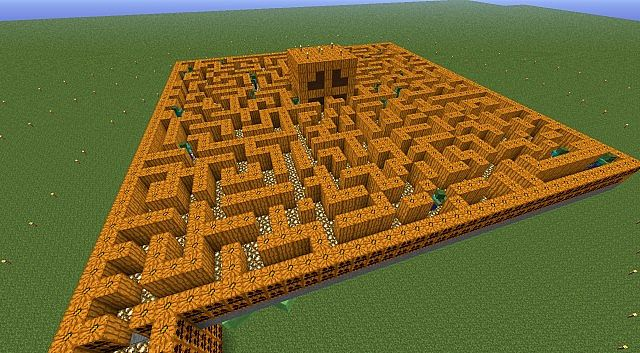 how to make a big maze in minecraft
