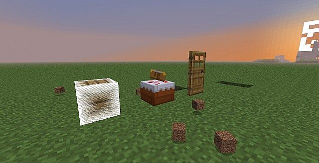 Cake with a book on top? Wood doors that require redsotne signal to open? Invsible glass? EXPLODING WOOD?