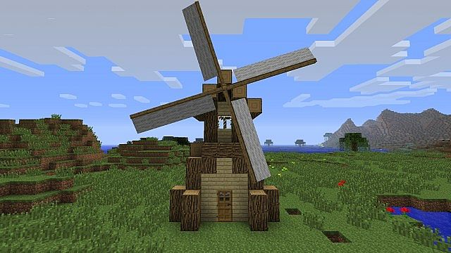 Simple Windmill Btw Minecraft Project