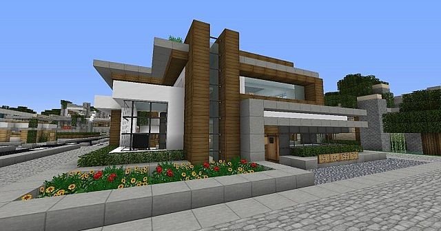 Cozy Modern Home Minecraft Project