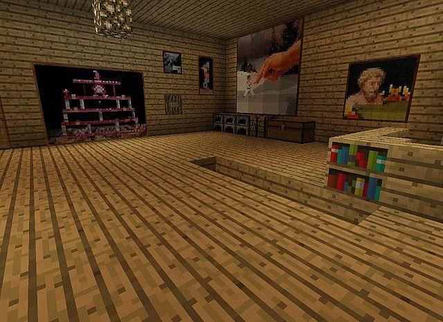 Fancy Secret Piston House Minecraft Project