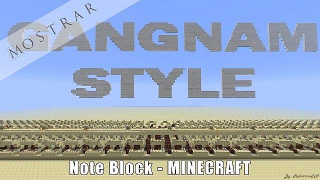 Minecraft note block gangnam style 9 minecraft note block gangnam