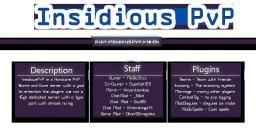INSIDIOUSPVP| RAID | PVP | GUNS | CUSTOM PLUGNS | HARDCORE PVP Minecraft Server