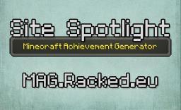 Site Spotlight - Minecraft Achievement Generator Minecraft Blog