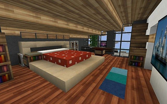 Eclipse feat ustin jay mansion minecraft project for Bed decoration minecraft