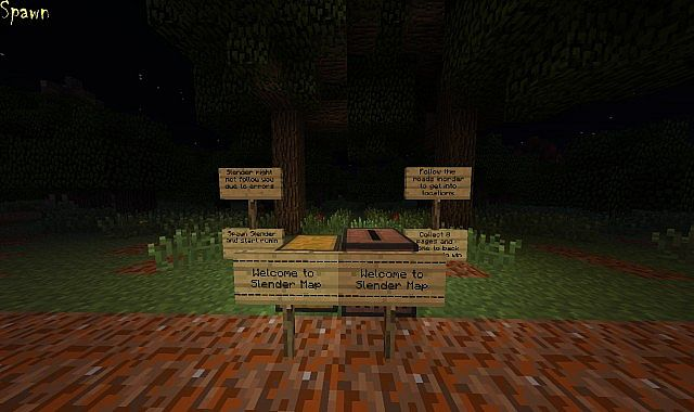 Slender Man Map Best Minecraft Project