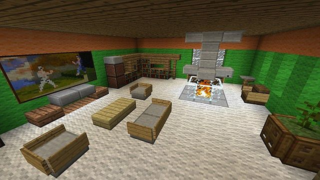 Wohnzimmer - Living Room Minecraft Project