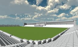 Zeppelinhaupttribüne in Nuremberg Minecraft Map & Project