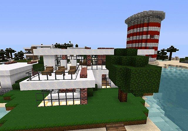 modern brickwool house Minecraft Project