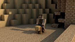 Desert Pig Guy! Cinema4D BACKGROUND! Minecraft