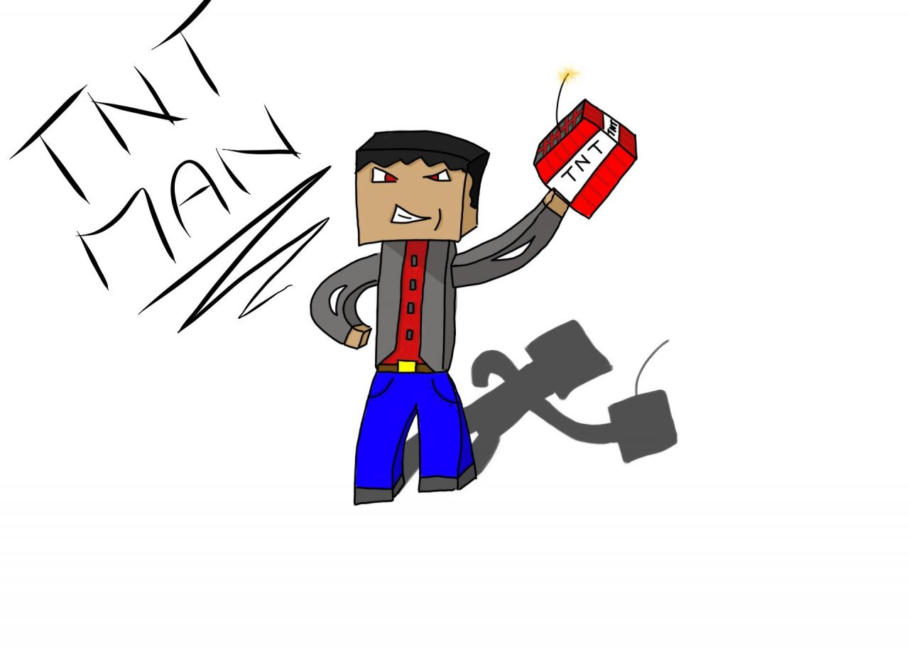 Worksheet. Minecraft speed art TNT MAN Minecraft Blog