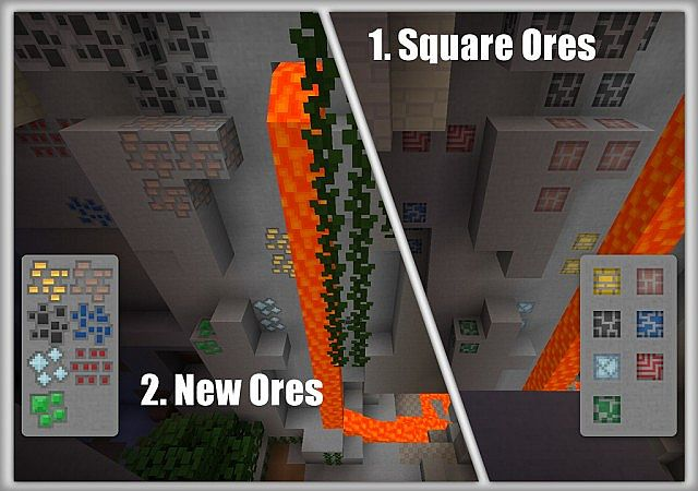 The 'New Ores' are the default, but you can use 'Square Ores' by following the instructions below.