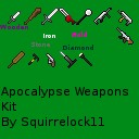 Apocalypse Weapons Kit ( With 4 Gun sprites , chainsaw and a jackhammer!)Now for 1.4.7! Minecraft Texture Pack