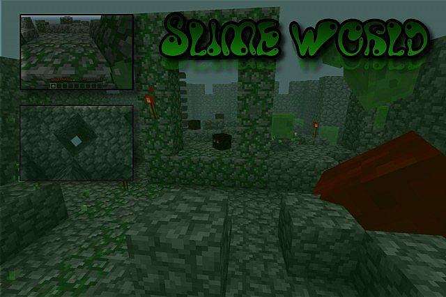 Slime word/dimension [1 4 UPDATE!] Minecraft Mod