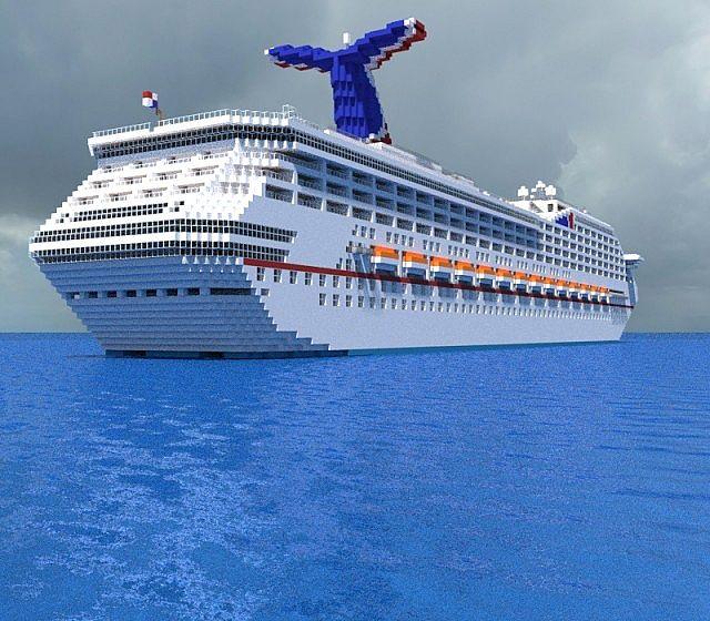 Carnival Valor Cruiseship Minecraft Project - Valor cruise ship