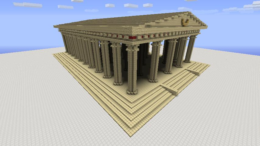Greek Architecture Minecraft temple of zeus minecraft project