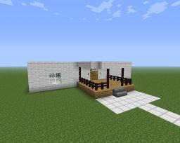 modern white cottage Minecraft Map & Project