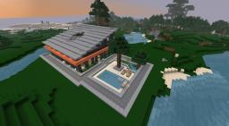 Small Modern Mansion Minecraft