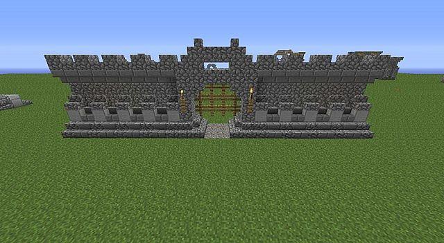 Wall Design Minecraft : Castle wall design minecraft project