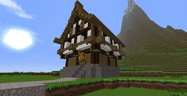 Medieval house build tutorial minecraft project Step by step to build a house