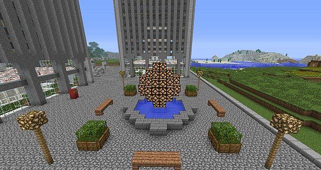 The World Trade Center Plaza.