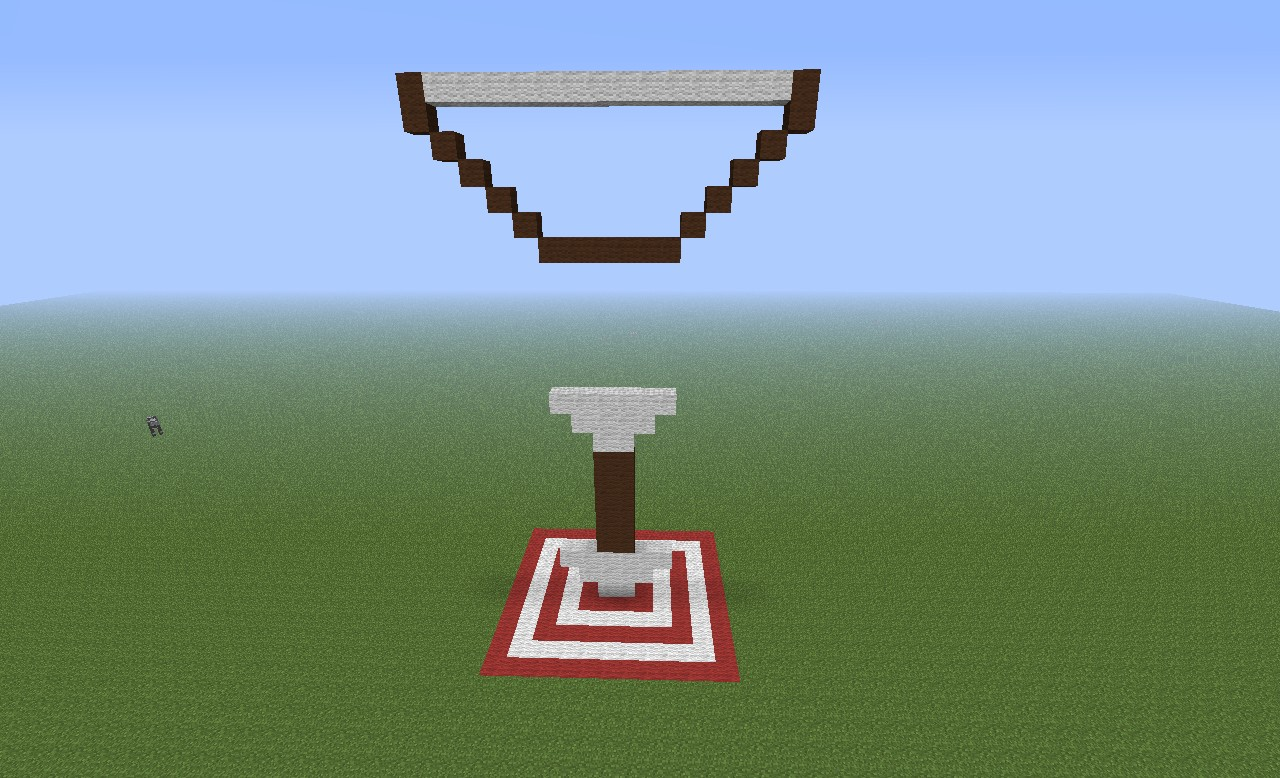 bow and arrow training area challenge minecraft project