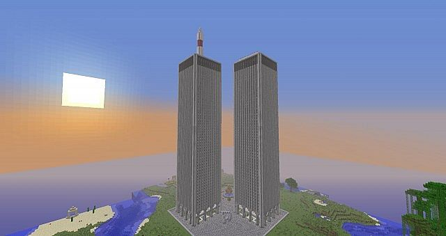 World Trade Center Twin Towers Minecraft Project