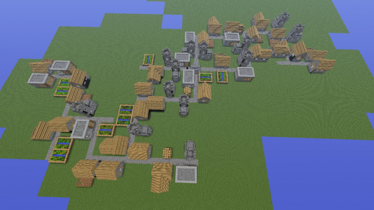 How to make big npc villages everywhere on 1 4 minecraft for Find a builder
