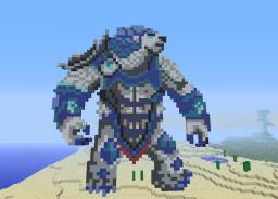 Volibear Pixel Art Minecraft Map & Project