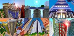 Skyscraper Bundle - 32 structures Minecraft Map & Project