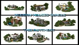 Modern Houses Bundle, 10 Houses (1.5.1 ready) Minecraft Map & Project