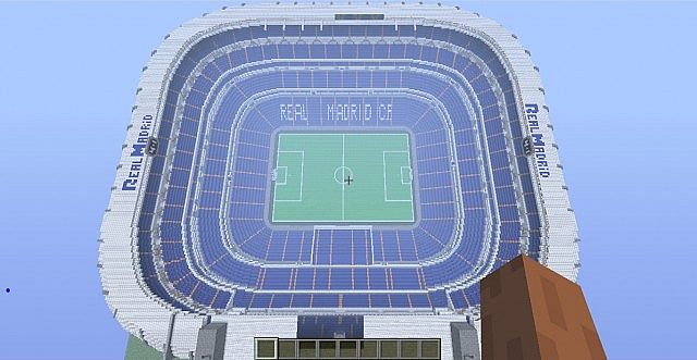 Estadio Santiago B 233 Rnabeu Real Madrid Minecraft Project