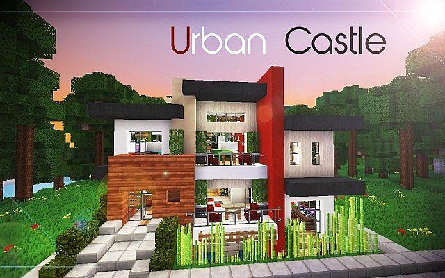De Stijl 2 Urban Castle Split Level Home Minecraft Project
