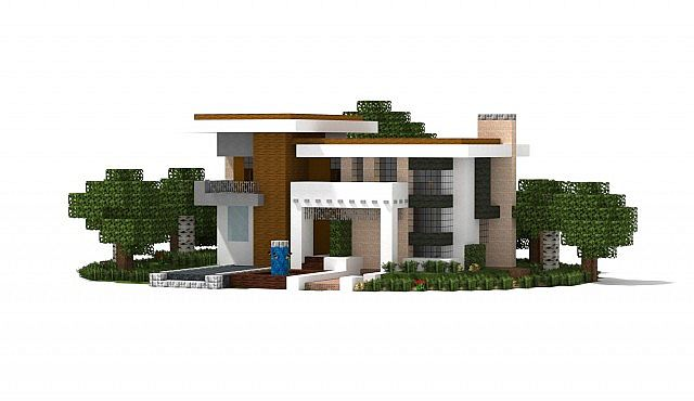 Modern houses bundle 10 houses 1 5 1 ready minecraft for Minecraft modernes haus download 1 7 2