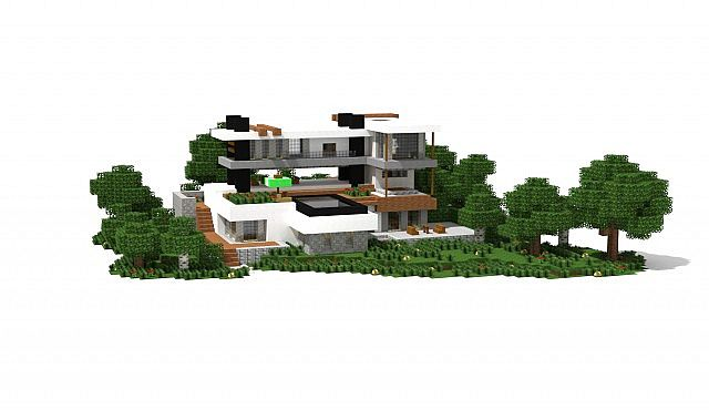 Modern houses bundle 10 houses 1 5 1 ready minecraft for Minecraft modern house 7x7