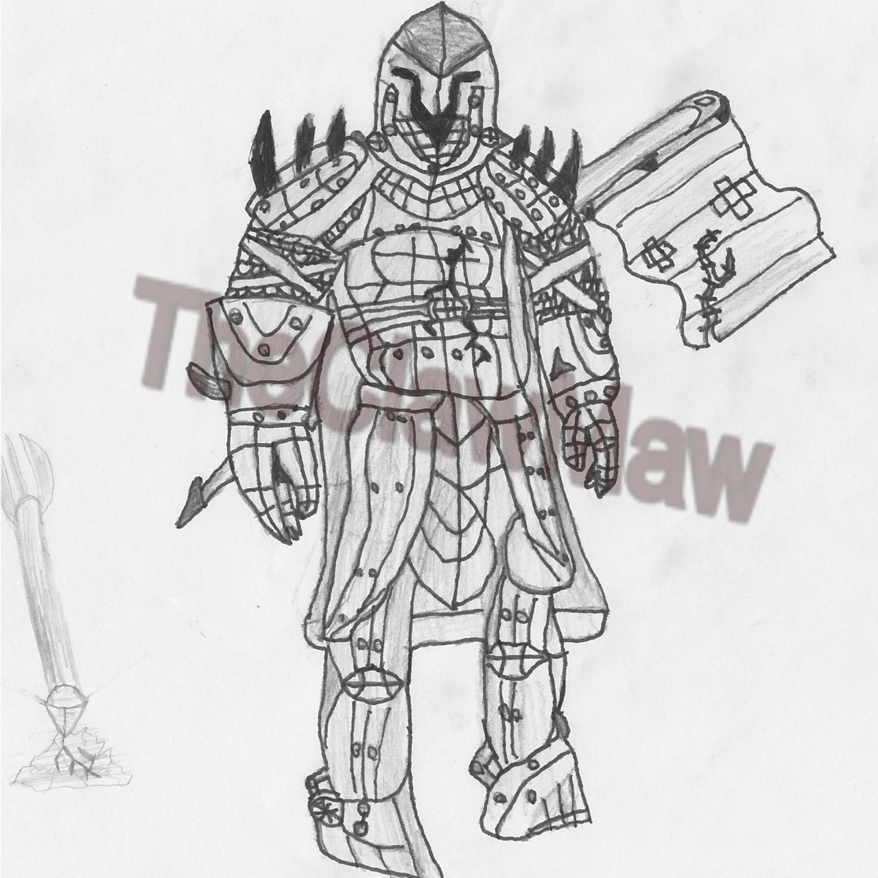My Medieval Knight Drawing Minecraft Blog