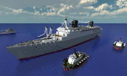 MS Midnight Sun, detailed cruise ship Minecraft Map & Project