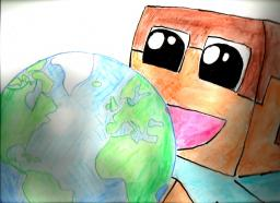 Planet Minecraft World [Drawing]