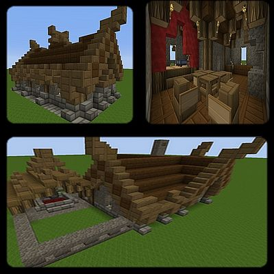 Viking House Schematics Minecraft Project