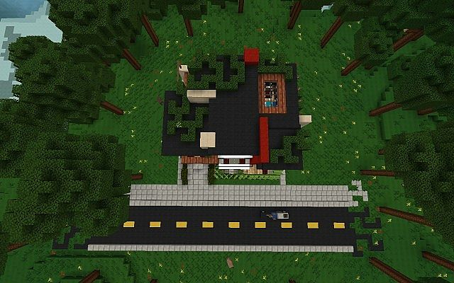 De Stijl 2 Urban Castle Split Level Home Minecraft Project