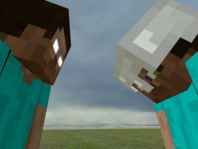 Minecraft Herobrine Vs Steve Herobrine vs steve pvp parkour