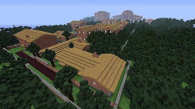 Suikoden 2: Greenhill City Minecraft Project