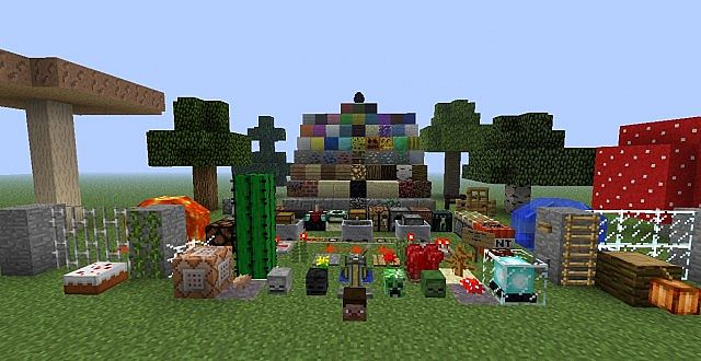 1.4.2 TEXTURE PACK SHOWCASE MAP v.2 Minecraft Project