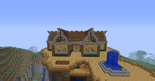 Rustic Mountain House Minecraft Project