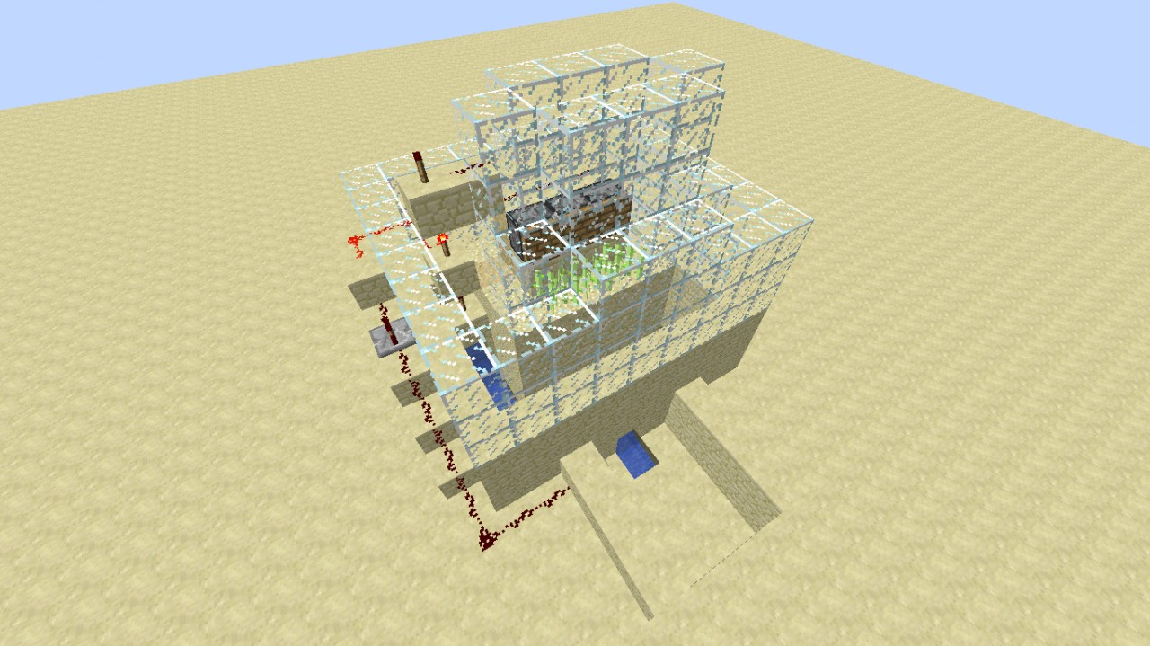 how to make an automatic sugar cane farm minecraft