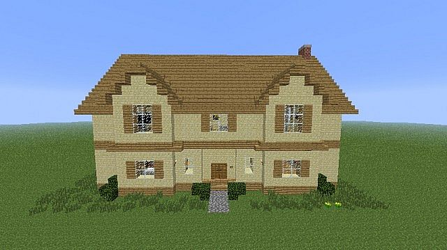 Modern house sandstone minecraft project for Minecraft modern house designs easy